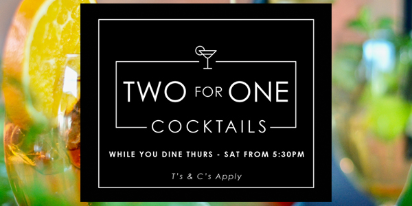two for one cocktails bristol