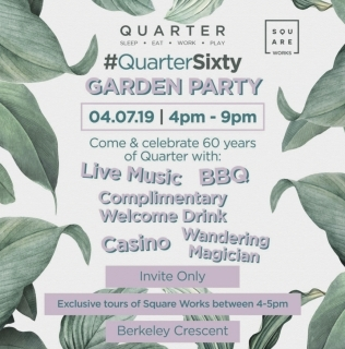 #QuarterSixty Garden Party – Members Only Event